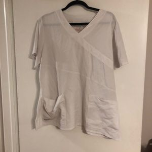 Gently worn Greys anatomy white scrub top